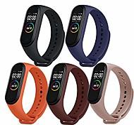 economico -Cinturini in 5 colori per mi band 4 / mi band 3, cinturino smartwatch accessori progettati in silicone anti-perso cinturini da polso regolabili per xiaomi mi band 4 / mi band 3 -no tracker