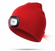 abordables -lampe frontale d'extérieur à led unisexe, bonnet tricoté avec 3 niveaux de luminosité réglable, pour le jogging, le camping, le vélo, les grillades, la réparation automobile (couleur: rouge)