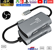 abordables -carte de capture vidéo usb 1080 à double hdmi 4kp 60fps ps4 jeu xbox audio en direct youtube diffusé sur facebook
