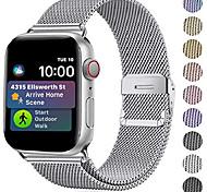economico -compatibile con cinturino apple watch 42mm 44mm 40mm 38mm cinturino in maglia di acciaio inossidabile cinturino di ricambio per cinturino per serie iwatch 6 se 5 4 3 2 1, argento