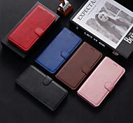abordables -téléphone Coque Pour Motorola Coque Intégrale Étui en cuir MOTO G9 PLAY Antichoc Couleur unie faux cuir TPU