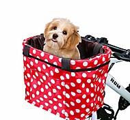 economico -cestino per bici borsa da manubrio multiuso per bicicletta con tracolla staccabile cestino anteriore per bici per trasportino, spesa, valigetta per pendolari, campeggio all'aperto (rosso&bianca)