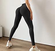 abordables -Femme Sportif Confort Gymnastique Yoga Leggings Joggings Pantalon Couleur Pleine Cheville Blanche Noir Bleu Violet Rouge