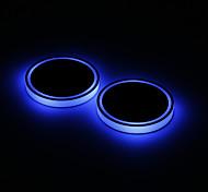 abordables -2x voiture LED lumière porte-gobelet intérieur automobile USB atmosphère colorée lumières lampe porte-boisson tapis antidérapant produits automobiles