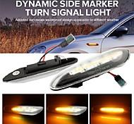 abordables -Fumée lentille dynamique ambre LED indicateurs clignotant côté marqueur clignotant pour bmw e90 e91 e92 e93 e60 e61 e46 e83 e81 x1 e84 x3 2 couleurs au choix