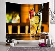 abordables -tapisserie murale art déco couverture rideau pique-nique table tissu suspendu maison chambre salon dortoir décoration polyester fibre nature morte boisson moderne