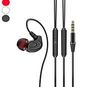"""economico -6 Auricolari in-ear cablato """"Jack audio da 3,5 mm"""" Stereo Doppio driver Dotato di microfono per Apple Samsung Huawei Xiaomi MI Sport Fitness"""