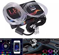 economico -9 in 1 luce ambientale universale per auto illuminazione interna per auto luci decorative luci notturne a strisce al neon 12v
