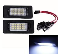 abordables -2 pièces 12V voiture LED lampe de plaque d'immatriculation pour Audi TT TTS A1 A5 A6 A7 Q5 RS5 TTRS éclairage automatique Luces