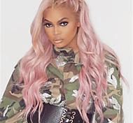abordables -nouvelles perruques dames mode rose grande vague longue perruque de cheveux bouclés coiffures fête de vacances perruque fête cosplay