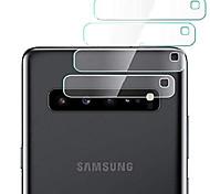 abordables -protecteur d'objectif de caméra arrière pour samsung galaxy s10 5g, 4 pièces transparent ultra mince haute définition en verre trempé anti-rayures couvercle de lentille arrière film protecteur en
