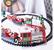 abordables -lumières et sons ensemble de train électrique de noël voies ferrées jouets bébé ensembles de train à domicile pour enfants cadeau