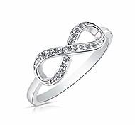 economico -Anello infinito per sempre in argento sterling 925 con cz (misura dell'anello degli stati uniti)