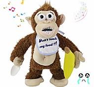 abordables -jouet en peluche électrique singe qui pleure méchant ne prend pas sa banane! cadeau drôle de jouet drôle d'animal en peluche animé interactif musical pour les tout-petits de bébés d'enfants, brun, 11