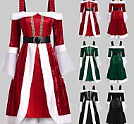 abordables -Déguisement Halloween Femme Costume de père noël Noël Costume Noël Halloween Noël Festival Noir Rouge Vert Costumes Carnaval / Robe