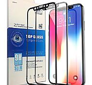abordables -me protecteur d'écran pour iphone x [pack de 2], nouvelle technologie la plus avancée avec plein cadre 3d et haute sensibilité, [anti-rayures] [dureté 9h tout verre trempé d'écran HD] [installation