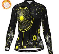 economico -21Grams Per donna Manica lunga Maglia da ciclismo Inverno Vello Poliestere Giallo Arancione Verde Bicicletta Maglietta / Maglia Superiore Ciclismo da montagna Cicismo su strada Fodera di vello Tenere