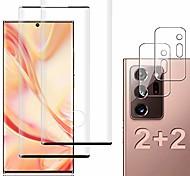 economico -telefono Proteggi Schermo Per Samsung Note 20 Ultra Galaxy Note 10 Note 20 Vetro temperato 2 pz Alta definizione (HD) Durezza 9H Anti-graffi Proteggi-schermo frontale Appendini per cellulare