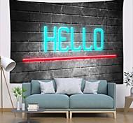 abordables -tapisserie murale art déco couverture rideau pique-nique table tissu suspendu maison chambre salon dortoir décoration polyester fibre nature morte moderne néon bonjour