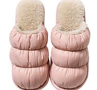 economico -Per donna Pantofole e infradito Pantofole fuzzy Pantofole da interno Piatto Punta tonda Classico Interni Pelle nubuck Tinta unita Rosa Verde