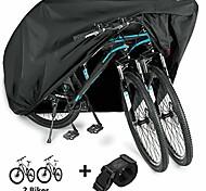 abordables -housse de vélo imperméable extérieur xl xxl housse de vélo pour 2 vélos tissu oxford pluie soleil uv housses de moto anti-vent pour route de montagne vélo électrique tricycle cruiser - noir xl 210d