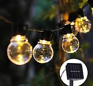 abordables -lumière LED solaire tube de jardin extérieur lumières 5m 20LED bande de LED décoration extérieure lumière de fée pour patio jardin fête de mariage arbre cour