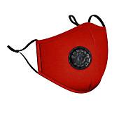 economico -2 pezzi anti-smog pm2.5 maschera a carbone attivo maschera tridimensionale protettiva in cotone con valvola respiratoria