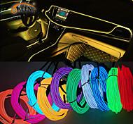 abordables -5m néon LED bandes d'éclairage intérieur de voiture auto LED bande guirlande el câble métallique décoration de voiture lampe tube flexible