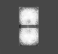 abordables -2pcs 6 leds voiture ouverture de porte voyant d'avertissement sécurité anti-collision flash lumières sans fil lampe de signal magnétique