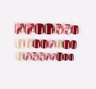 economico -borgogna dorata nuova serie geometrica unghie finte finito nail art patch unghie finte che indossano nail art nail patch color nail patch 24 pezzi