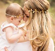 abordables -2 pièces Bébé / Nourrisson Unisexe Actif Arbres / Feuilles Accessoires Cheveux Dorée / Argent Taille unique