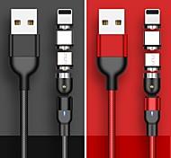 economico -USB C Cavi Alta velocità Carica rapida Trasmissione dati 3 A 1.0m (3 piedi) PVC Per Xiaomi MI Samsung Xiaomi Appendini per cellulare