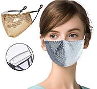 economico -Maschera antipolvere in cotone antipolvere da 2 pezzi solo blu viola rosa cipria