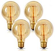 abordables -4pcs 2pcs 1pc G80 Ampoule Edison Vintage Incandescente 40W E26 E27 Blanc Chaud 2300K Rétro Dimmable Antique Tungstène 220-240V Pour La Maison Hôtel Bistro