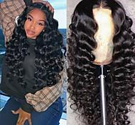 abordables -perruque synthétique jerry curl perruque asymétrique longue naturelle noire cheveux synthétiques 23 pouces femme meilleure qualité curling noir (non-dentelle)