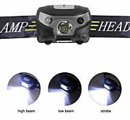 abordables -phares à LED rechargeables, avec modes d'induction lampe frontale à LED, câble USB mains libres phares, idéal pour le camping, la randonnée, le jogging (noir)