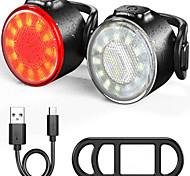 abordables -LED Eclairage de Velo Eclairage Décoration de vélo Eclairage de Vélo Arrière Feu arrière LED Vélo Cyclisme Imperméable Portable Sortie de charge USB Nouveau design Batterie au lithium 200 lm Batterie