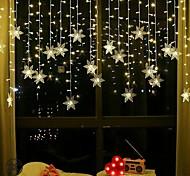 abordables -3.5 m lumières de décoration de noël 96 pièces LED flocon de neige rideau guirlande lumières guirlande de fées lumières pour fenêtre rideau maison vacances fête décor extérieur étanche