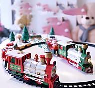 economico -natale automotrice elettrico treno giocattolo treno ferroviario set da corsa trasporto su strada costruzione di giocattoli giocattolo elettrico per bambini 1 pz confezione regalo