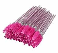 abordables -50 pcs Cristal Brosse À Cils Mascara Baguettes Kit Spoolies Pour Cils Cils Extension De Sourcils Pinceaux De Maquillage Jetables Ensemble