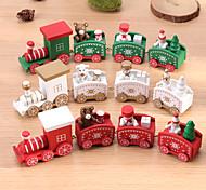 abordables -noël en bois petit train en bois peint décoration de noël maison avec père noël enfants jouets nouvel an cadeau