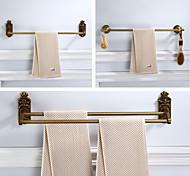 abordables -étagère à serviettes de salle de bain pliable, ensemble d'accessoires de quincaillerie antique multifonction 1-2 couches avec motifs sculptés, aluminium, 3 styles, 60,1cm, 61,2cm, 61,5cm - mural
