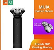 abordables -Xiaomi mijia rasoir électrique rasoir barbe machine pour hommes sèche barbe humide tondeuse rechargeable tête 3d lavable double lames