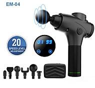 abordables -Pistolet de massage des tissus profonds 20 vitesses Puissant dispositif de pistolet fascia à percussion sans fil avec 6 têtes pour la relaxation musculaire
