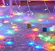 economico -10 m luci stringa 100 led 4 mm 1 set bianco caldo giallo san valentino natale impermeabile festa matrimonio 24 v