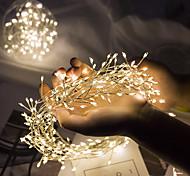 economico -ip65 impermeabile stringa di luce led 5m 200led petardo luce fata flessibile 8 modalità albero di natale festa a casa vacanza decorazione del giardino illuminazione aa potenza della batteria luci