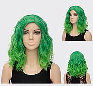 abordables -perruque synthétique hathaway partie médiane perruque vert court bouclé blond doré cheveux synthétiques 12 pouces femmes synthétique sexy lady coiffure