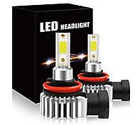 abordables -2pcs 60w 12000lm voiture LED ampoules de phare H11 9006 HB4 9005 HB3 H4 H7 H8 H9 H1 Mini kit de phare pour ampoule de route / faisceau antibrouillard
