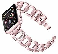 abordables -remplacement pour bande de montre apple 38mm série 40mm 6/5/4/3/2/1 / se iphone iwatch bracelet bracelet lien bracelet bling pour femmes (38mm / 40mm, or rose)
