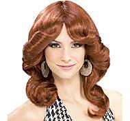economico -parrucca da donna per costume da discoteca anni '70, ramata, taglia unica